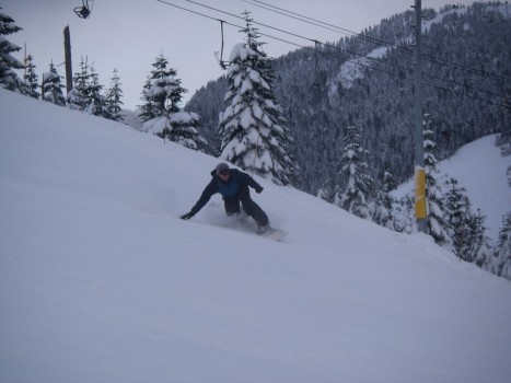 Cypress Mountain Snowboarder