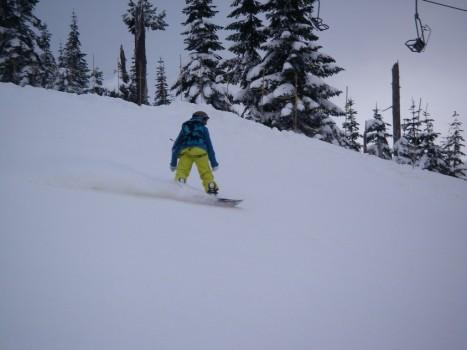 Cypress Mounatin Snowboarder