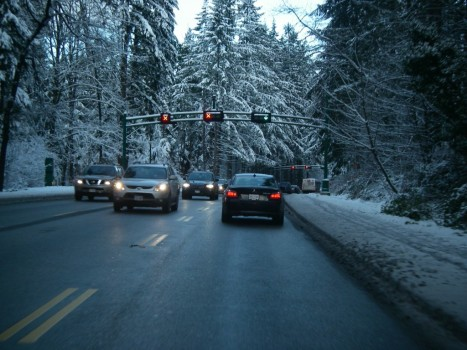 Driving through Stanley Park (Dec 18, 2008)