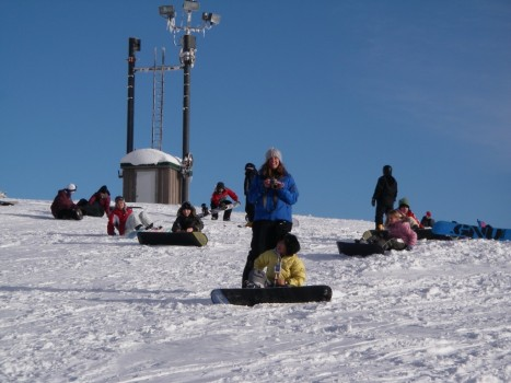 Grouse Mountain Snowboard Instructor teaching