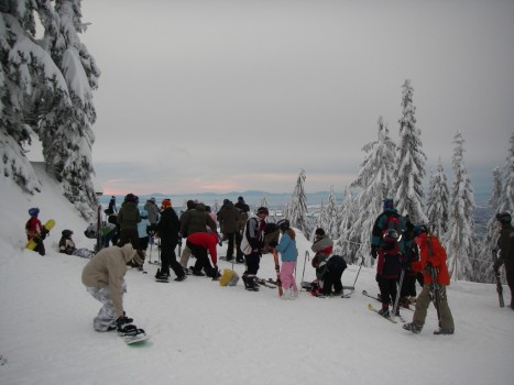 Crowd on January 4th, 2009 at Grouse Mountain