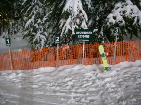 Taking a Snowboard Lesson at Cypress Mountain