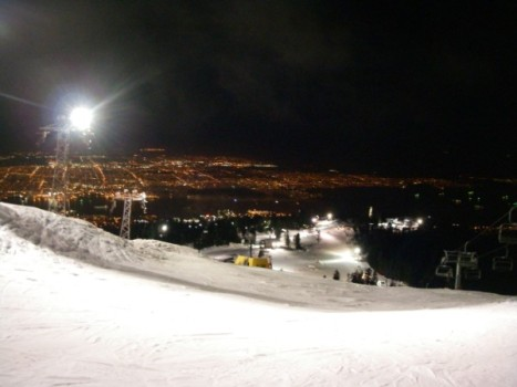 Grouse Mountain was Beautiful, Clear, and Warm tonight