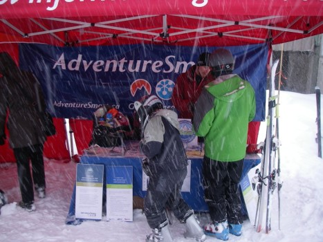 Adventure Smart Booth at Grouse Mountain - Rob