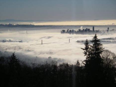 Vancouver from Cypress Mountain Lookout, January 19, 2009